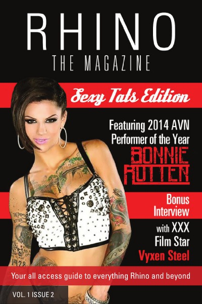 RHINO (The Magazine) featuring XXX Super Star Bonnie Rotten! View here: RHINO MAG