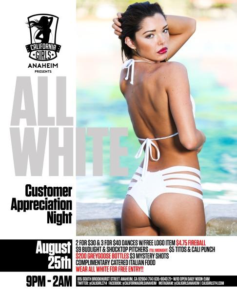 california girls best topless strip club orange county all white party full bar